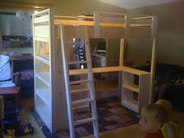Plans For Building A Loft Bed With Desk by Plans Build Loft Bed Desk Amazing Wood Tierra Este 71696