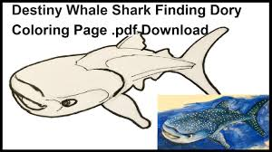 destiny whale shark finding dory coloring pdf download