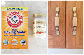 What To Use To Clean Greasy Kitchen Cabinets How To Clean Grimy Kitchen Cabinets With 2 Ingredients One