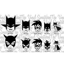 batman bat family catwoman cat family vinyl decal stickers