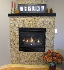 Porcelain Tile Fireplace Ideas by 75 Best Fireplaces Pebble And Stone Tile Images On Pinterest