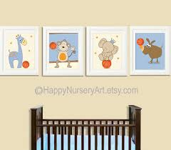 Sports Nursery Wall Decor Sports Nursery Set Of 4 Prints Nursery Decoranimal