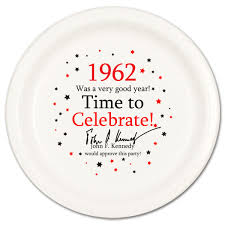 celebrate plate 1962 party supplies 1962 birthday dinner plate