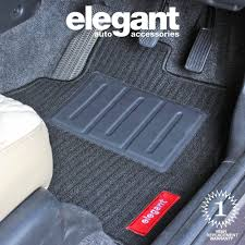 elegant cord black carpet car mats for hyundai santro xing set of
