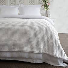 ardent premium super soft cotton waffle blanket white by jenny