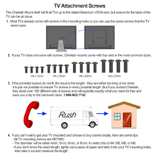 Tv Wall Mount Hardware Cheetah Aptmm2b Tv Wall Mount For 32 65