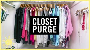 organize 1 day closet purge youtube