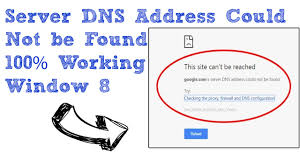 server dns address could not be found youtube