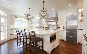 White Kitchen Island Lighting with Recessed Panel Kitchen Traditional With Kitchen Island Lighting
