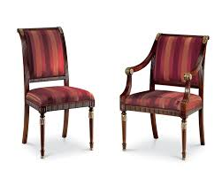 Upholstered Armchair by Empire Reproduction Scroll Arm Mahogany Upholstered Armchair