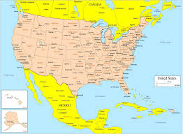 map us big cities map of united states and mexico with cities ambear me