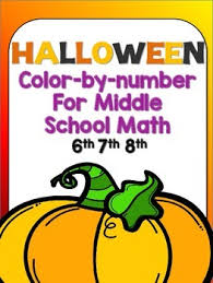 halloween color number math math trish tpt