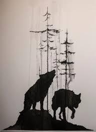 best 25 wolf tattoos ideas on forest sleeve