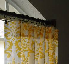 White And Yellow Curtains Brown White Curtain Panels Best Il Fullxfull Yellow Damask Window