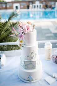 tropical laid back local london lido wedding modern cakes cake