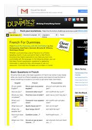french for dummies cheat sheet by cheatography download free