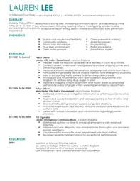 Police Officer Resume Sample by Best Police Officer Resume Example Livecareer Police Officer Cv