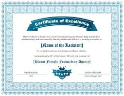 Free Certificate Of Excellence Template 5 Free Printable Certificates Of Excellence Templates