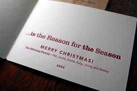A Reason For Letterpress Christmas Cards Spiffy Press Santa