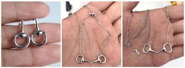 ring bracelet necklace images European jewelry sterling horse snaffle bit necklace ring bracelet jpg