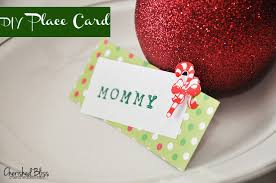 diy place cards diy christmas place cards cherished bliss