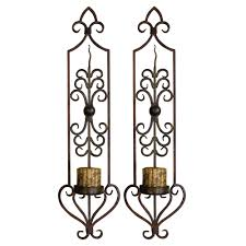 Silver Candle Wall Sconces Collection Candle Wall Sconces Wrought Iron Pictures Jefney Candle