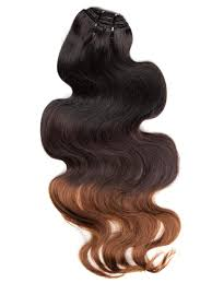 Human Hair Extensions With Clips by 30 Inch Smooth Ombre Clip In Hair Extensions Three Tone Body Wave