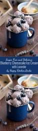 sugar free blueberry cheesecake ice cream with lavender u2022 happy