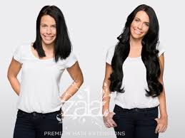 24 In Human Hair Extensions by Before And After Zala Jet Black 24