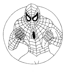 spider man cartoon characters coloring