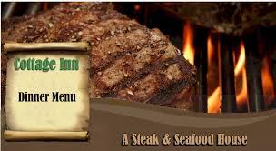 Cottage Inn Menu by Cottage Inn Steak U0026 Seafood House Wenatchee Washngton