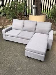 Fabric Sofas Melbourne Brand New Linen Fabric Sofa Bed With Storage Chaise Sofas