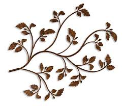 amazon com gorgeous branches and leaves metal wall art indoor