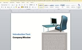 it report template for word business report template for microsoft word