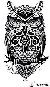 temporary tattoos large black owl arm transfer