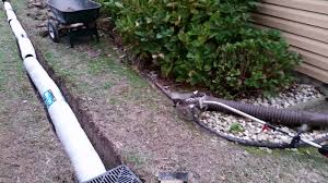 nds ez flow french drain installation youtube