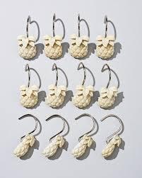 pineapple shower curtain hooks set of 12