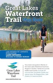 St Lawrence River Map Great Lakes Waterfront Trail Map Book Lake Ontario And St