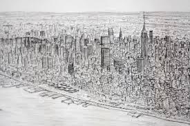 brit artist draws new york skyline from memory metro news
