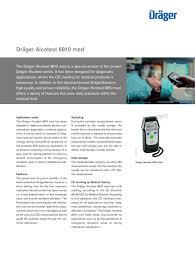 dräger alcotest 6810 med dräger catálogo pdf documentación