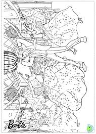 coloring pages girls barbie princess coloring pages