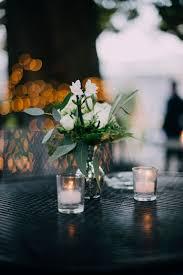 bud vase garland silver mercury bud vase with roses ranunculus flat eucalyptus