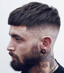 goodlooking men with cropped hair short french crop with high bald fade jpg