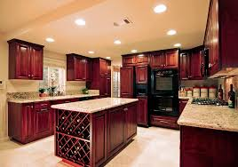 Cherry Kitchen Cabinets With Granite Countertops Dark Wood Flooring Kitchen Cherry Cabinets Amazing Deluxe Home Design