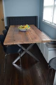 Diy Reclaimed Wood Desk by Polished Silver X Metal Table Legs Set Diy By Territorydesigns