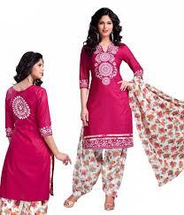 rani pink colour rani colour cotton unstitched dress material best price 505386