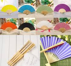 wholesale fans 200pcs custom personalized name and date folding paper