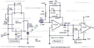 infrared motion detector circuit ir motion sensor circuit with