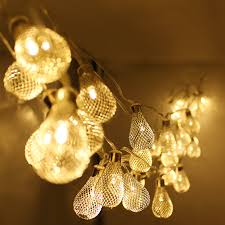 metal net christmas led string lights torchstar