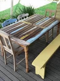 15 Unique Pallet Picnic Table 101 Pallets by Diy Pallet Outdoor Dinning Table